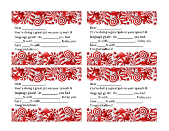Candy Canes Goal Progress Note