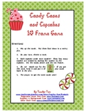 Candy Canes and Cupcakes 10 Frame Game