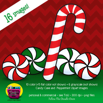 Candy Canes and Peppermints Clipart