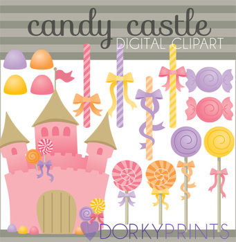 Candy Castle Clip Art