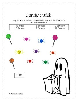 Candy Catch Halloween Articulation Game for /s/ and /z/ (Modifiable)