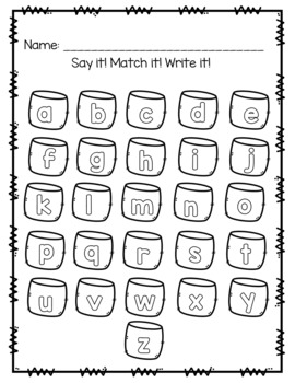 Letter Recognition & Sound Literacy Center