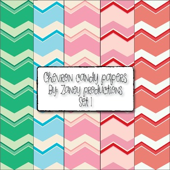 Candy Chevron Papers Set 1 & 2
