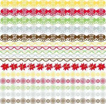 Candy Christmas Scallop Borders Clipart Set by Poppydreamz