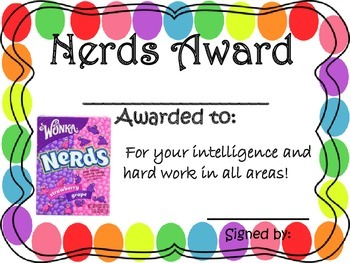Candy Classroom Awards