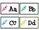 Candy Classroom Decor Pack- name tags, birthday decor, alphabet cards and MORE!
