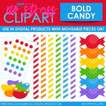 Candy Clip Art Bold Set (Digital Use Ok!)