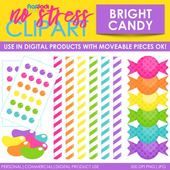 Candy Clip Art Bright Set (Digital Use Ok!)