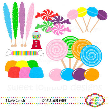 Candy Clip Art - Candy Clipart - Sweet Shoppe Clip Art - Sweet Shop Clip Art