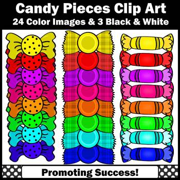 Candy Clip Art, Commercial Use Rainbow Colors SPS