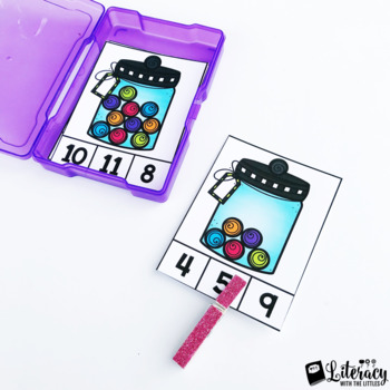 Candy Count and Clip FREEBIE (Counting up to 10 Math Center)