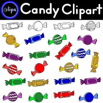 Candy Clipart 24 Pieces - Commercial or Personal Use