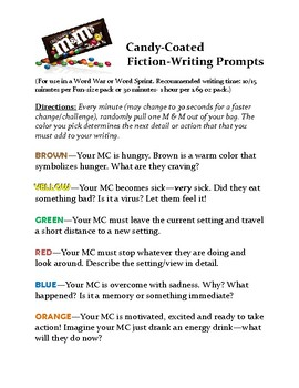 Candy Coated Fiction-Writing Prompts