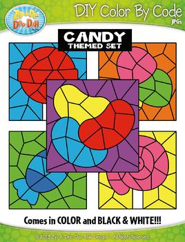 Candy Color By Code Clipart {Zip-A-Dee-Doo-Dah Designs}