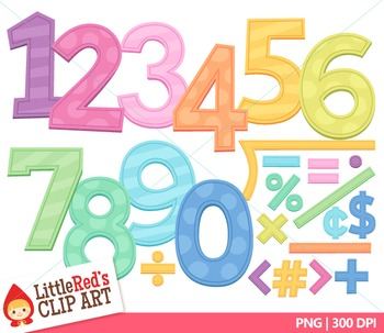 Candy Color Pastel Letters and Numbers Clip Art Bundle