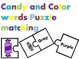 Candy & Color Words Puzzles.