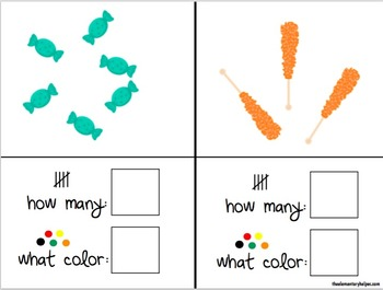 Candy, Color, and Count Adapted Book for Preschool and Kindergarten