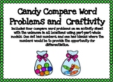 Candy Compare Word Problems and Craftivity