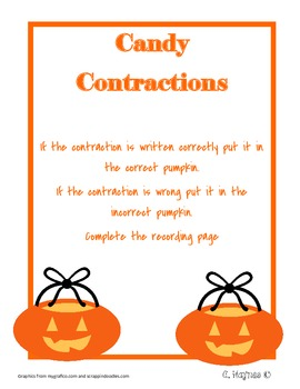 Candy Contractions Activity