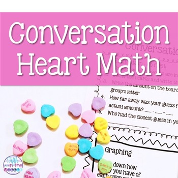 Conversation hearts can be used for a fun math activity!