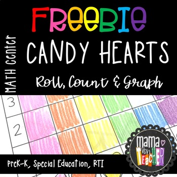 Freebie Candy Heart Math Sorting Graphing Match Center Prek K