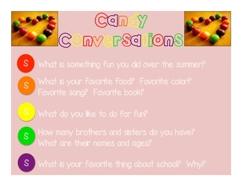 Candy Conversations (Skittles Ice Breakers Activity)