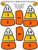 Candy Corn Activities: Candy Corn Subtraction Puzzles Halloween Math Activity