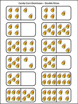 Candy Corn Activites: Candy Corn Dominoes Fall Math-Game Activity