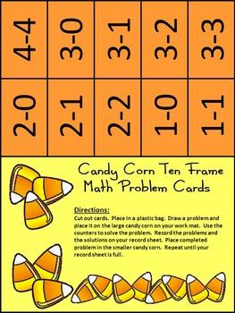 Candy Corn Activities: Halloween Ten Frames: Candy Corn Ten Frames