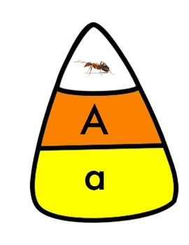 Candy Corn 3-Part Alphabet Match