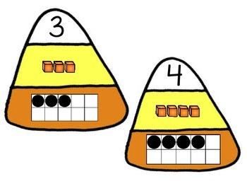 Candy Corn 3 Way Number Match