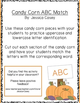 Candy Corn ABC Match