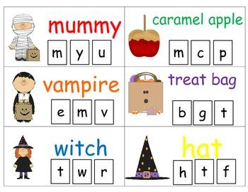 Halloween Clip & Learn Beginning Sounds