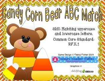 Candy Corn ABC Matching Literacy Center