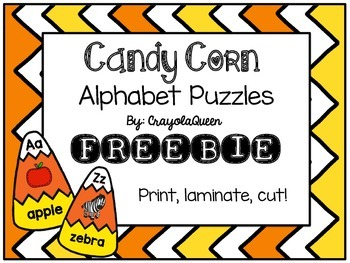 Candy Corn ABC Puzzles [FREEBIE]