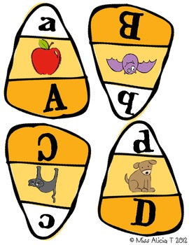 Candy Corn ABC Puzzles RF.K.1d