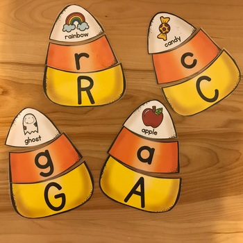 Candy Corn ABC Puzzles {Uppercase, Lowercase, Initial Sound}