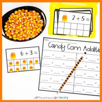 Candy Corn Addition Frames | Mini Eraser Math Activity