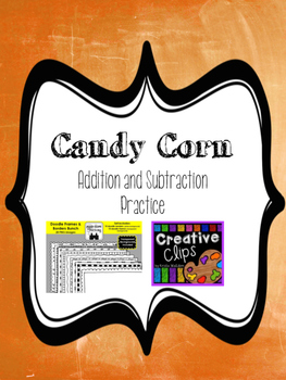 Candy Corn Addition and Subtraction Worksheet