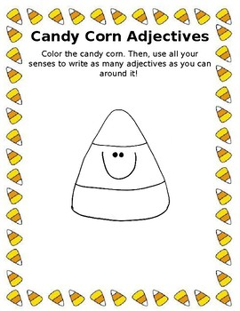 Candy Corn Adjectives