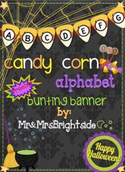Candy Corn Alphabet Bunting Banner Freebie
