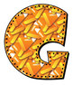 Candy Corn Alphabet - Uppercase and Numbers - 36 Files - P
