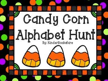 Alphabet Hunt Halloween Candy Corn