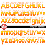 Candy Corn Alphabet Letters and Numbers Halloween Clipart by Poppydreamz