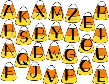 Candy Corn Alphabet Match