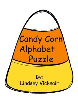 Candy Corn Alphabet Puzzle