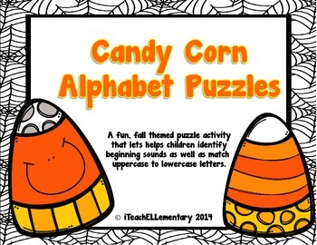 Candy Corn Alphabet Puzzles