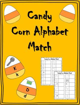 Candy Corn Alphabet Puzzles Literacy Center