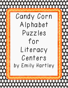 Candy Corn Alphabet Puzzles for Literacy Centers