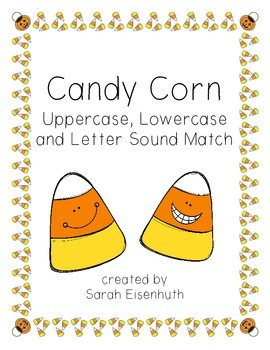 Candy Corn Alphabet Sound and Uppercase and Lowercase Match